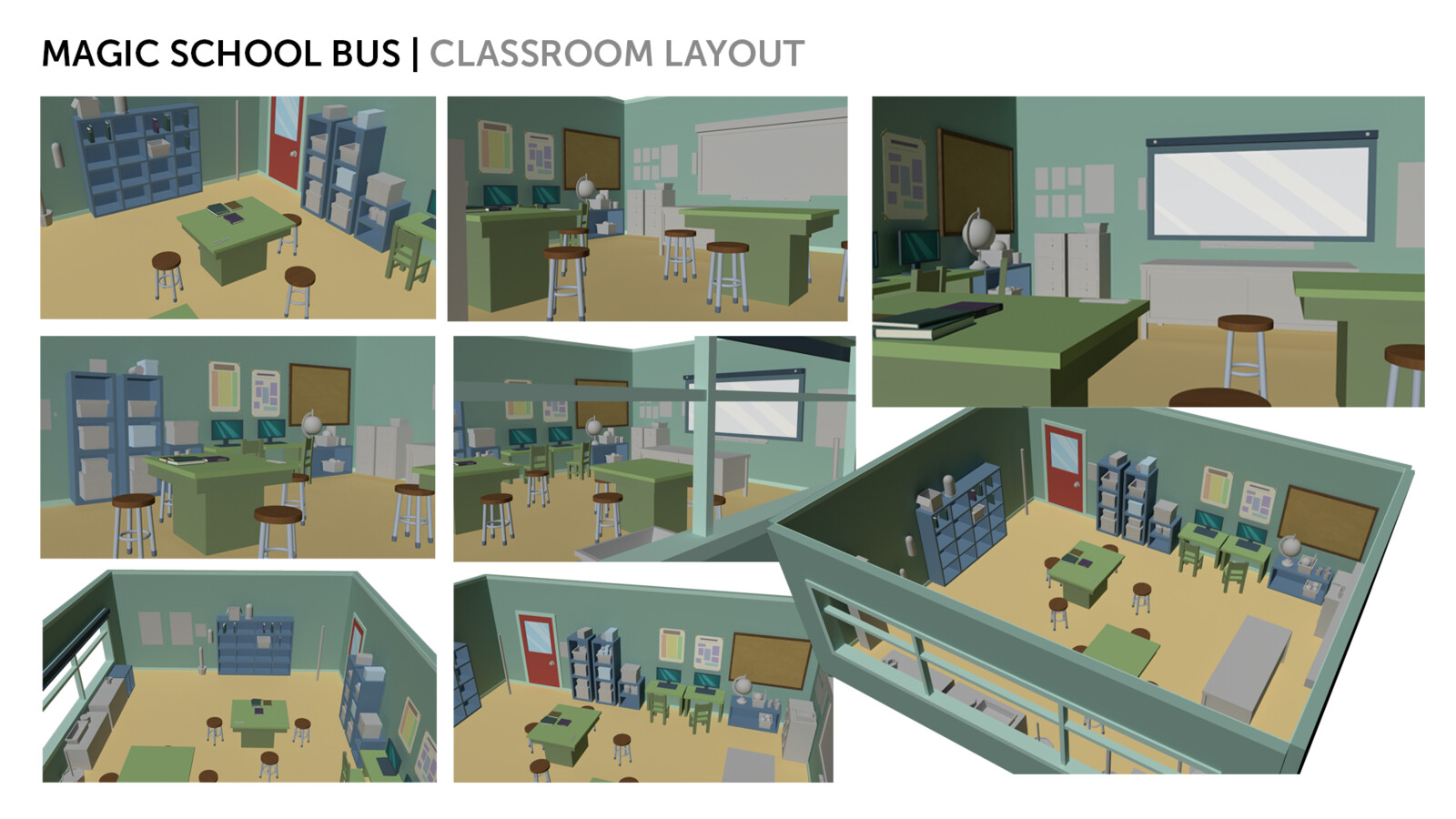 Magic School Bus Classroom Layout