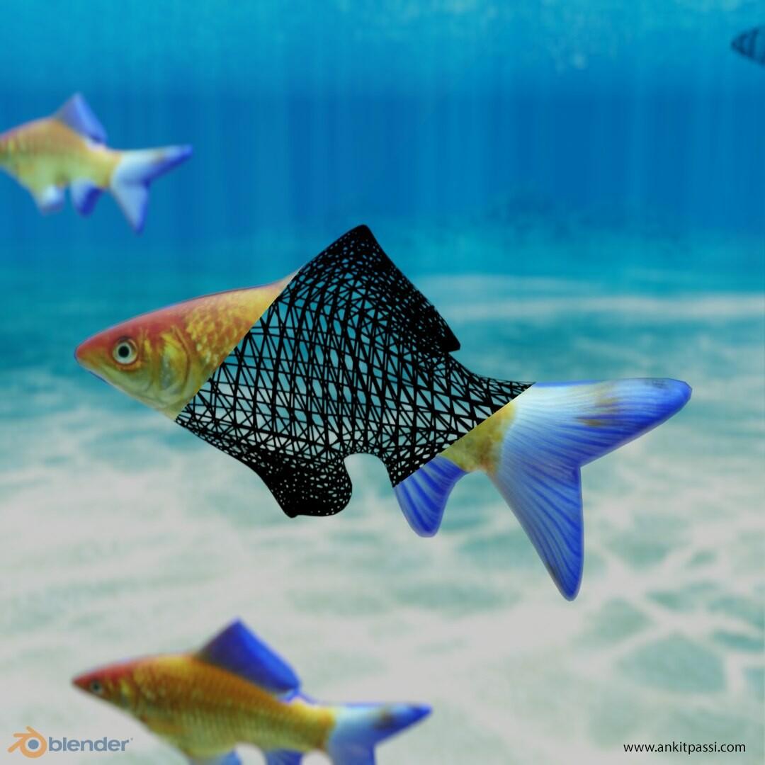 Fish simulation in Blender 2.8 Eevee