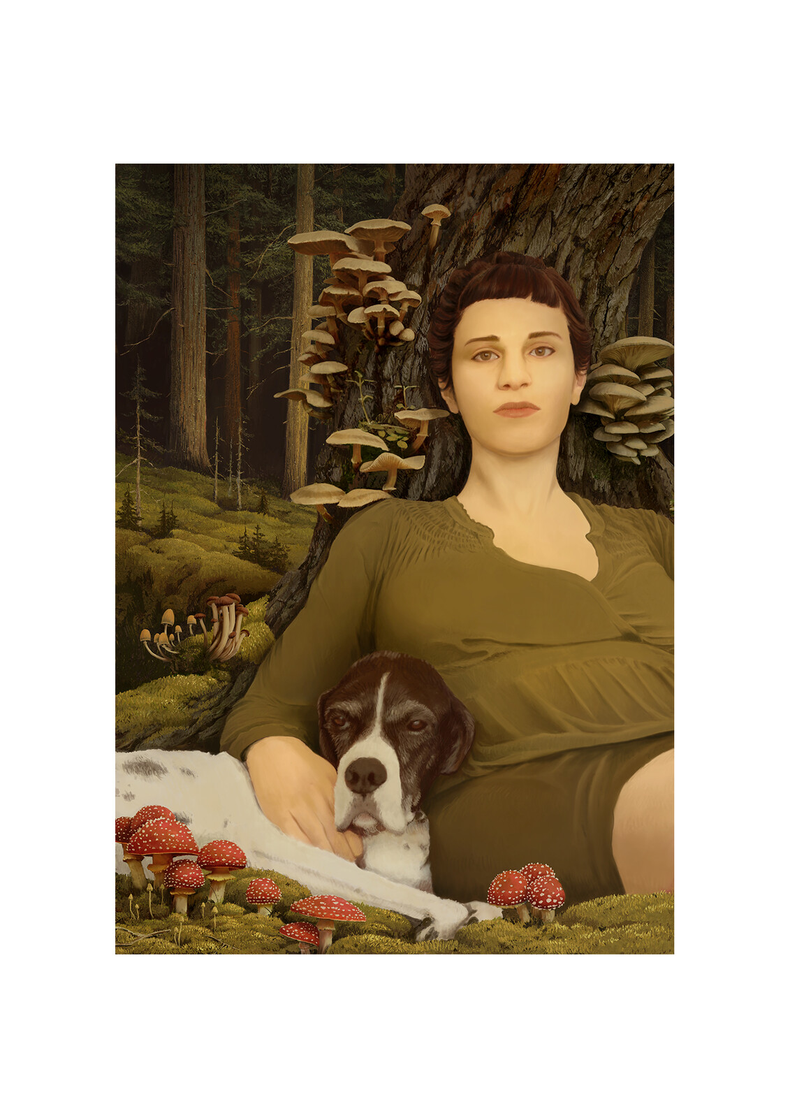 Portrait of a Woman and her Dog