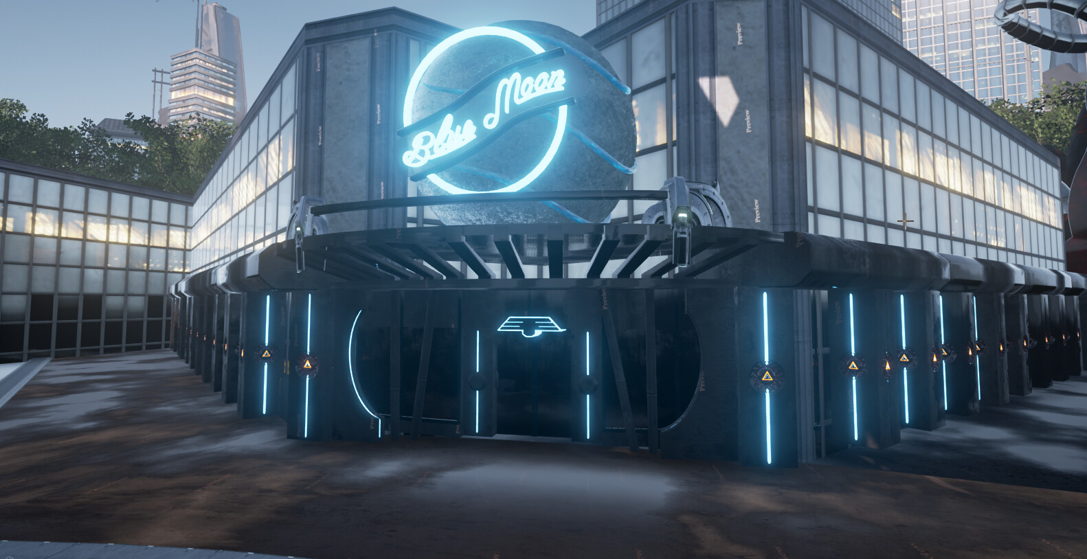 Modeling/Shading/Level Design of bar-club for game