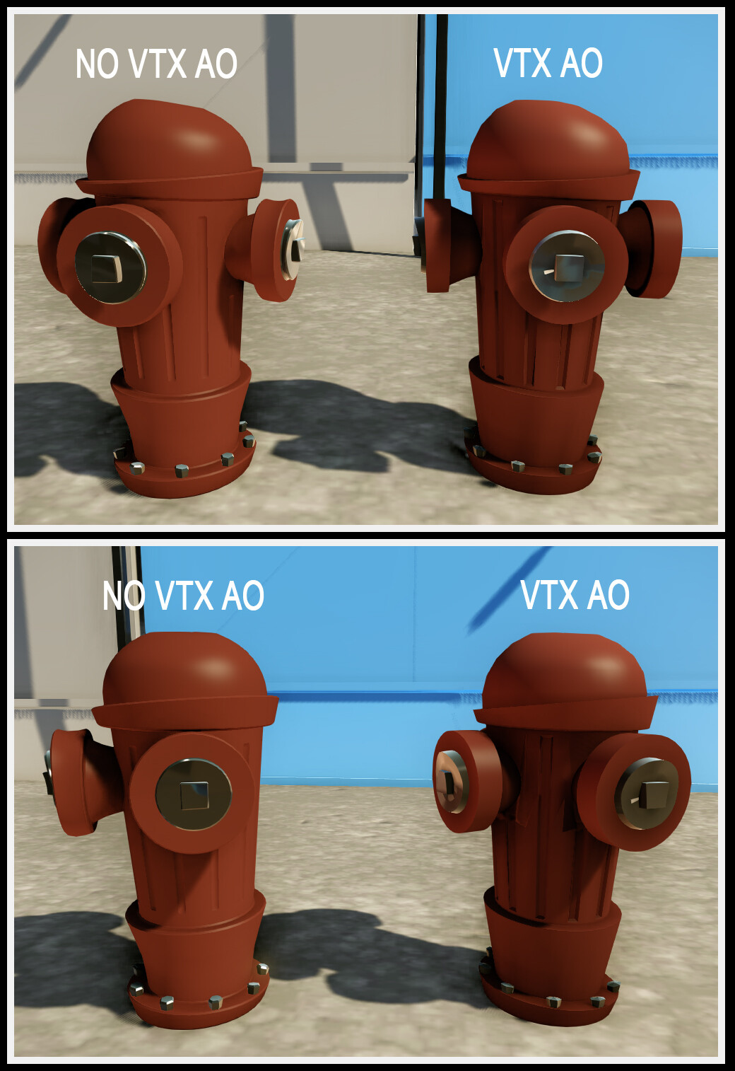 this was to test if Vtx ao was more feasible for the engine than an actual texture.