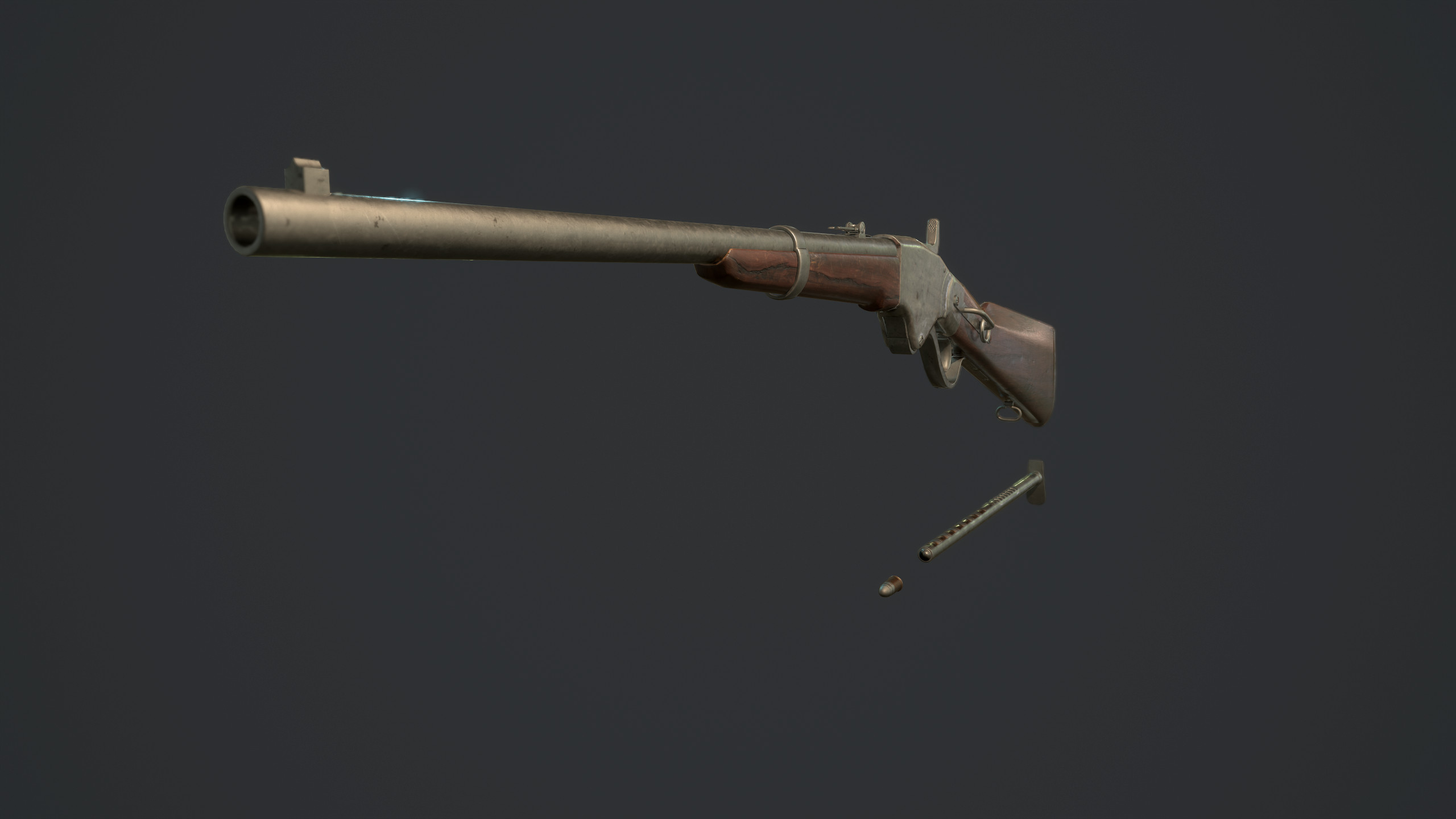 RIF Spencer 1860 freelance project. Low Poly Version.
