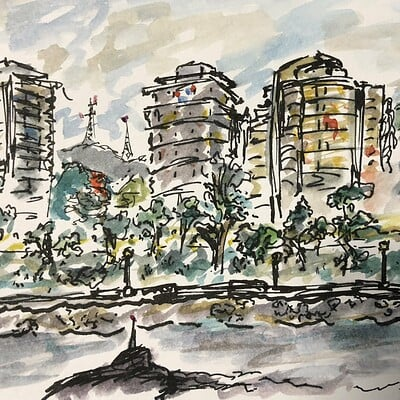Daniel oakley urban sketching 4