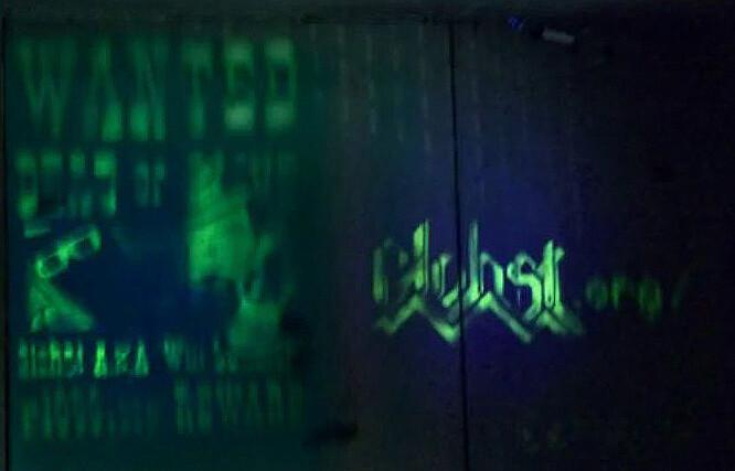 Glohst Logo in Situ under Bridge