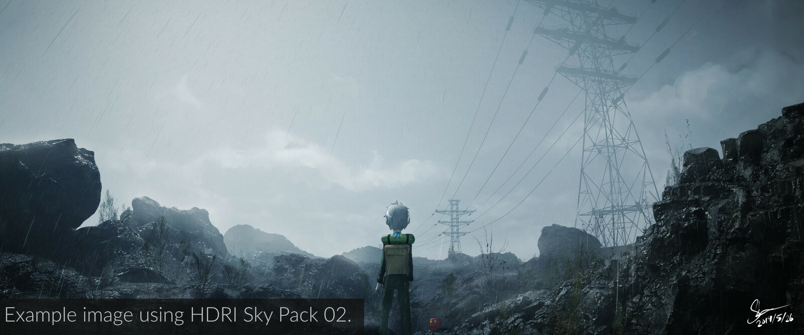 Another example from SideTrip, using one of the cloudy skies.
