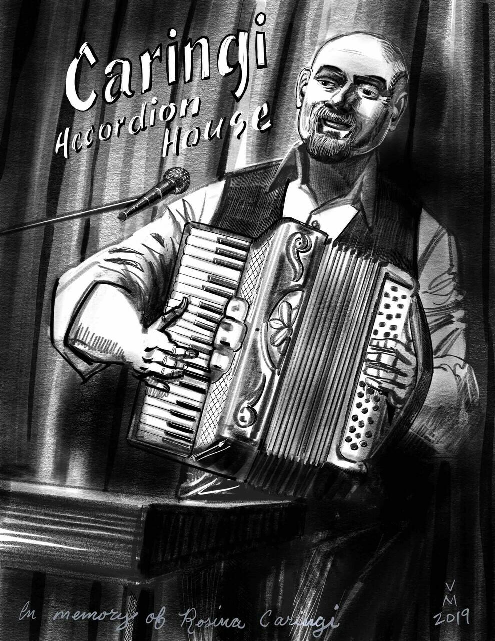 Accordion and keyboard great Jerry Caringi