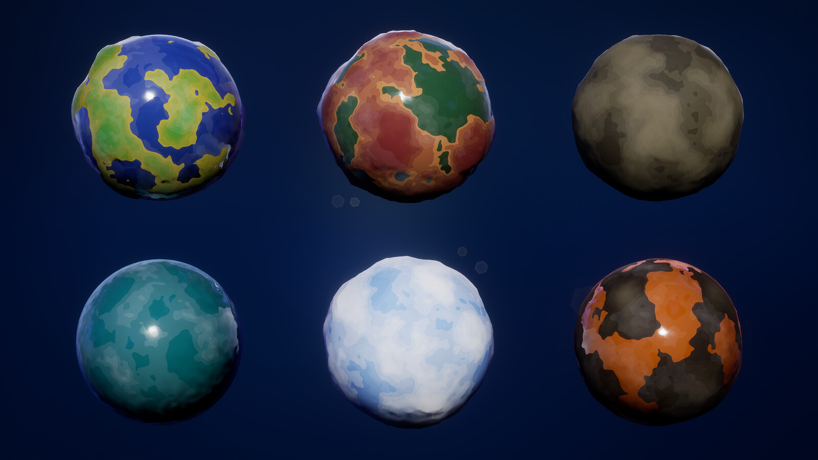 Bunch o' planets made using this material.
