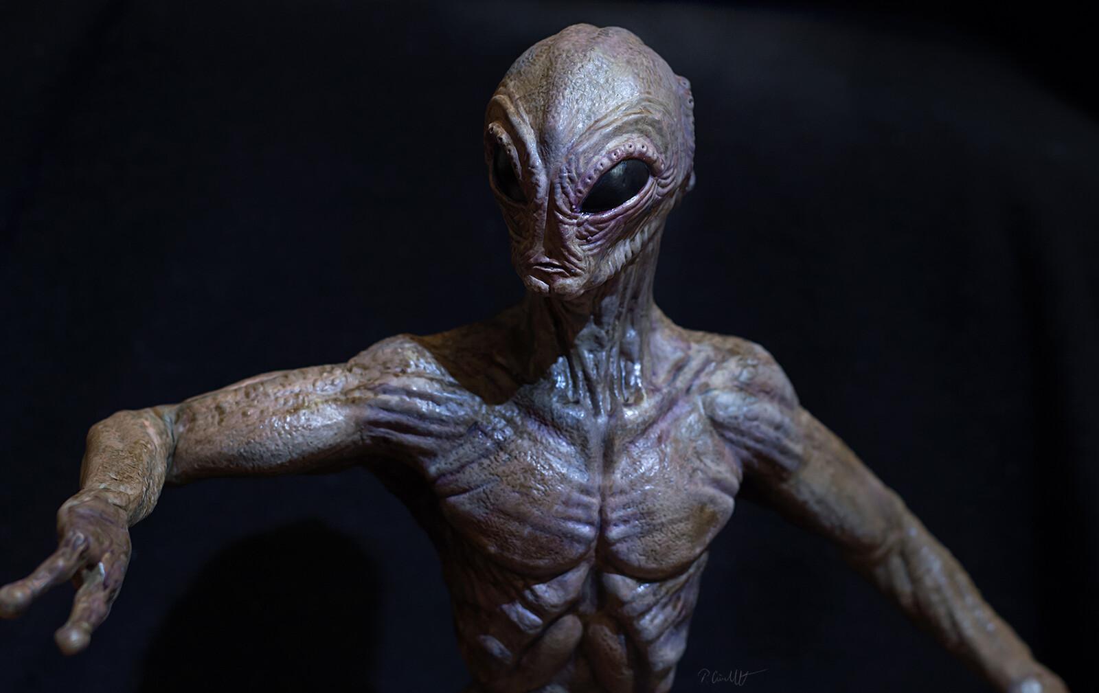 """3d printed model """"Alien"""", color variation V.1"""