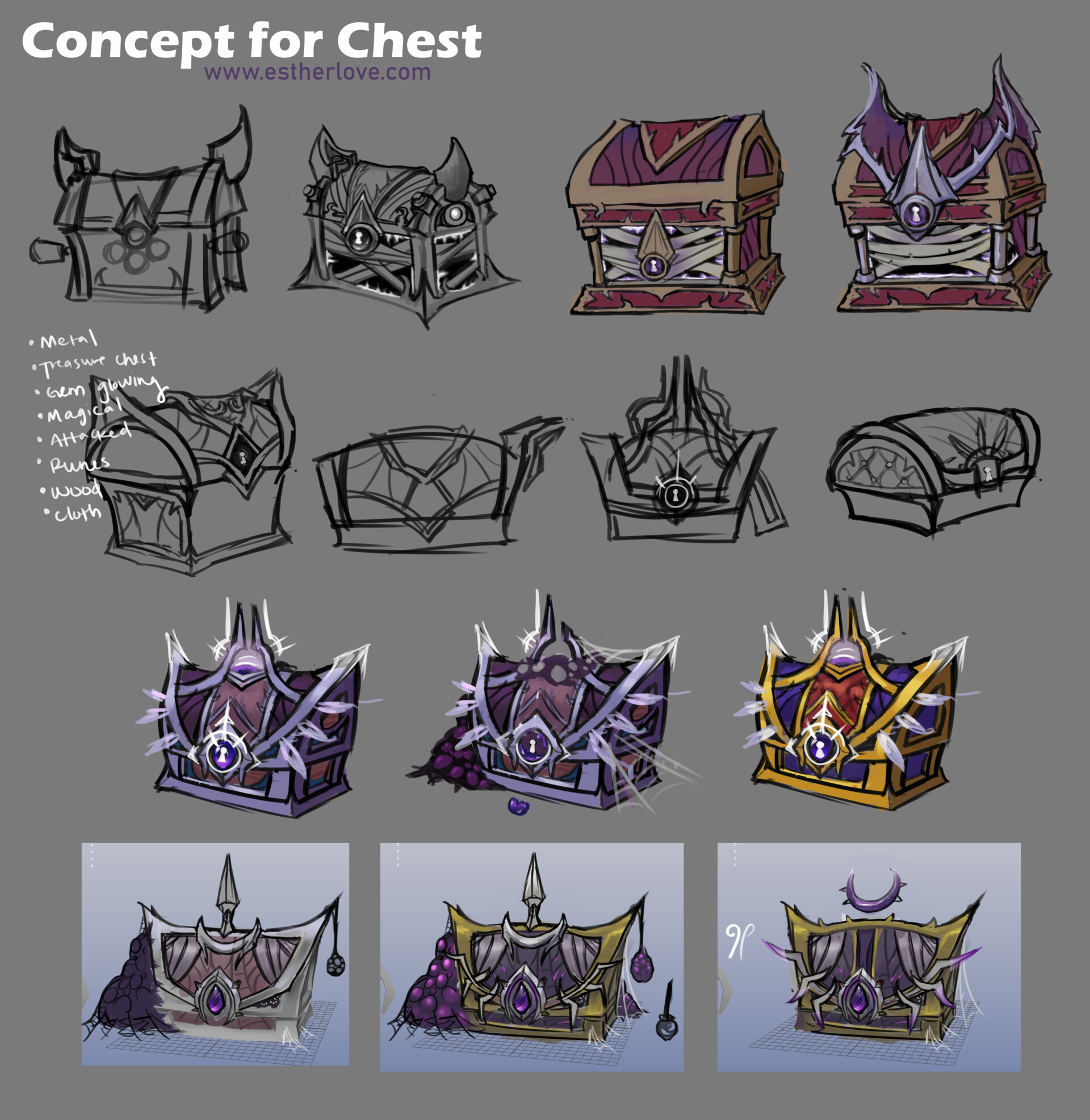 Esther love nightbornechest concept estherlove