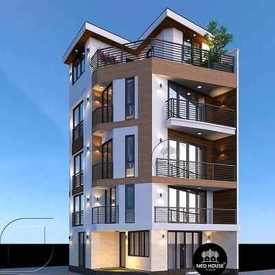 Neohouse architecture thiet ke nha o ket hop van phong kinh doanh 1
