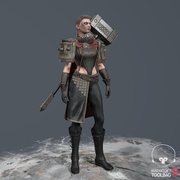 Celtic Fantasy Warrior  Zbrush, Maya, Substance Painter, Substance Designer, Marmoset Toolbag, Photoshop