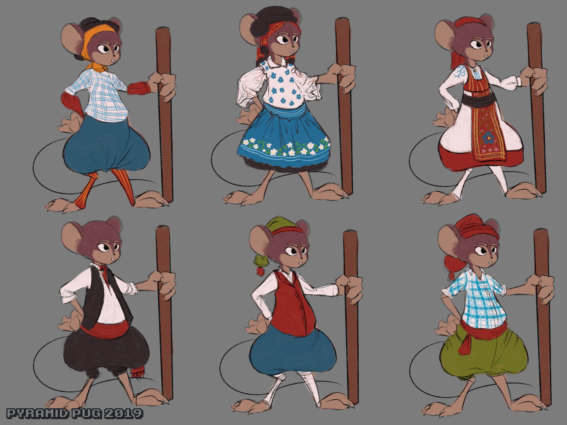 Clothing study of traditional clothes from my country