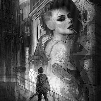 Eva kosmos cyberpunk 2077 fan art eva kosmos