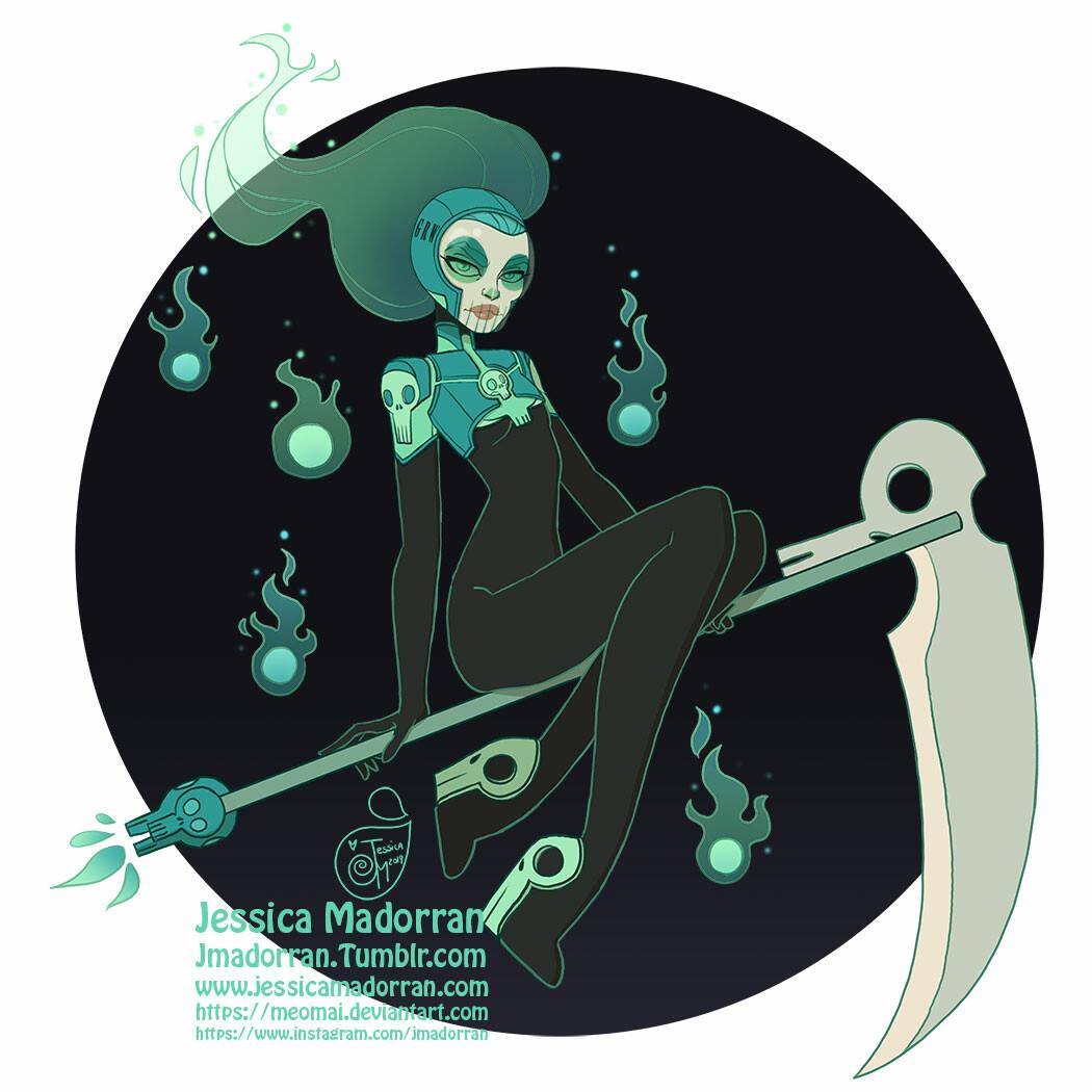 Jessica madorran character design drawlloween reaper 2019 artstation