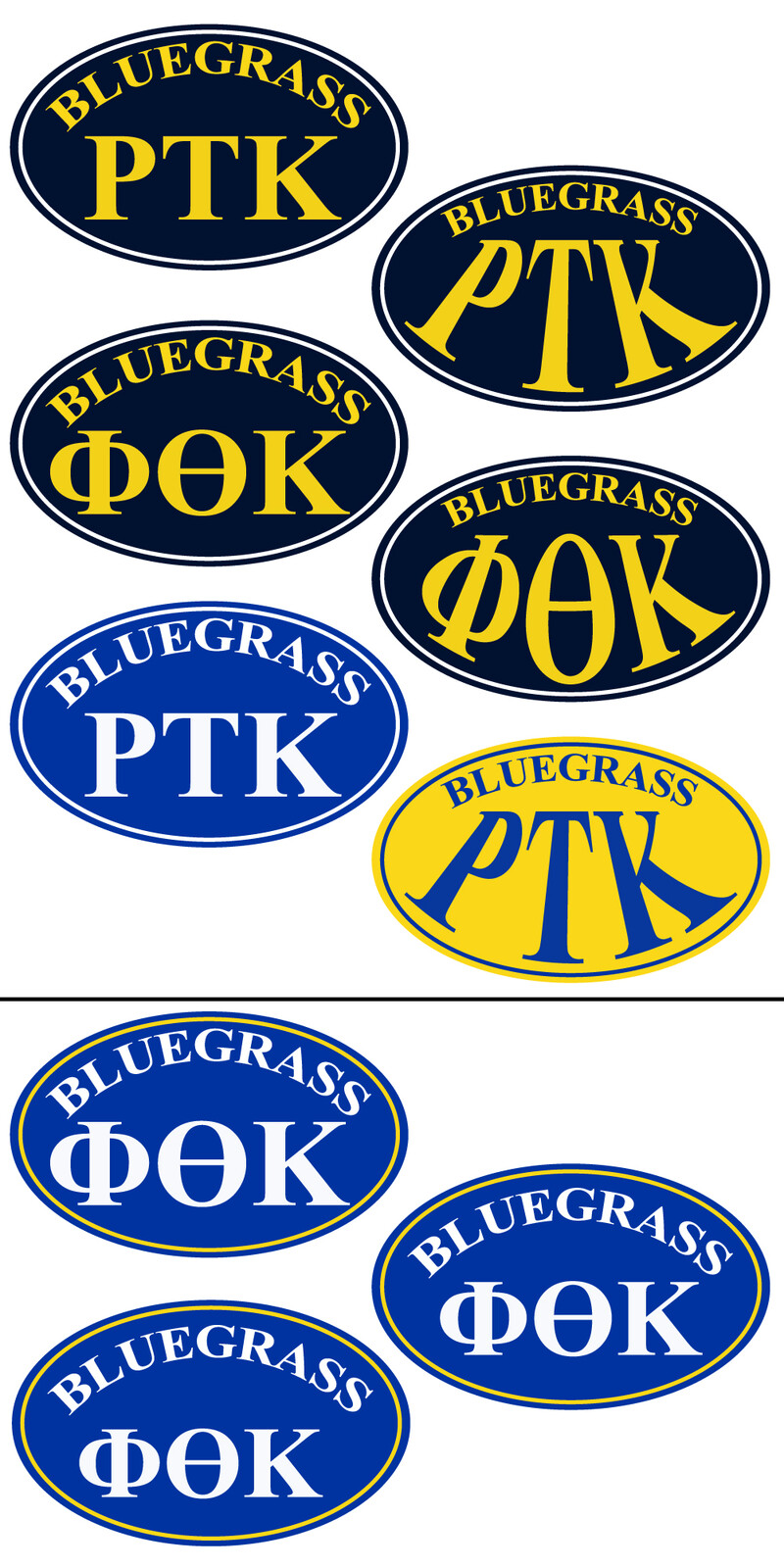 Earlier variations of the PTK sticker