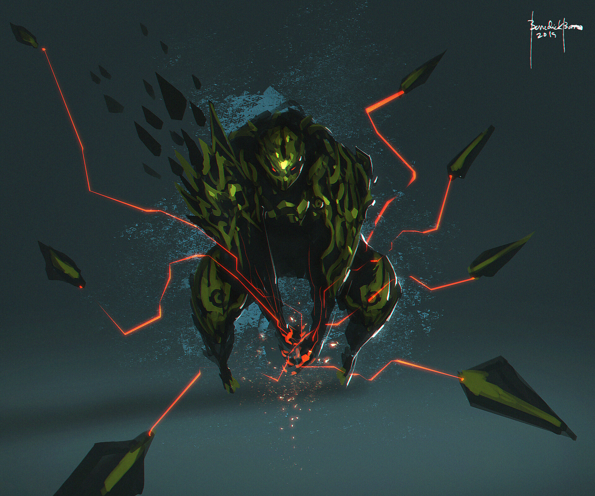 Death Touch - character design - spikes mind-controlled weapon