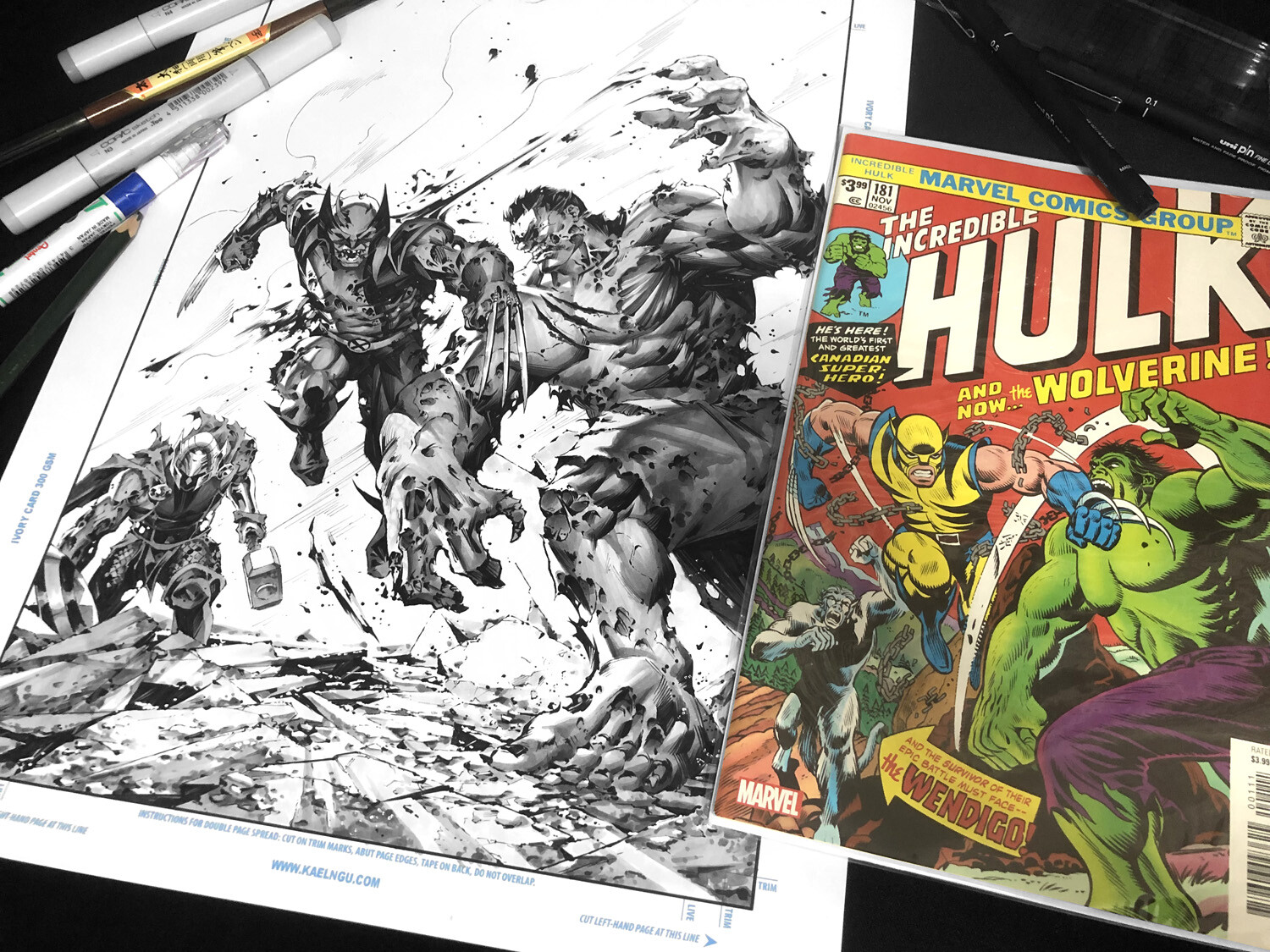 Homage after Incredible Hulk #181