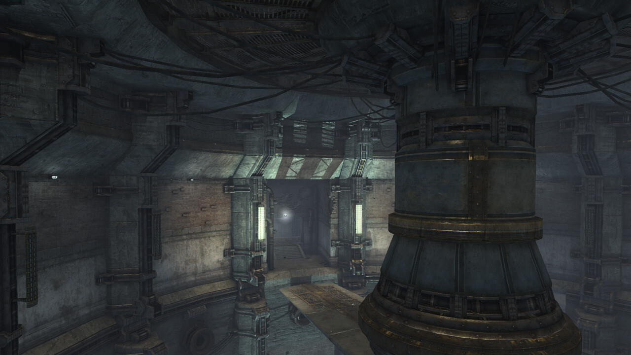 Ventilation Tunnel - In Game ----- World building from existing texture assets and lighting.