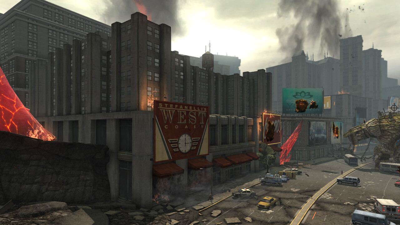 Various Buildings - In Game ----- Foreground building high poly and low poly modelling.