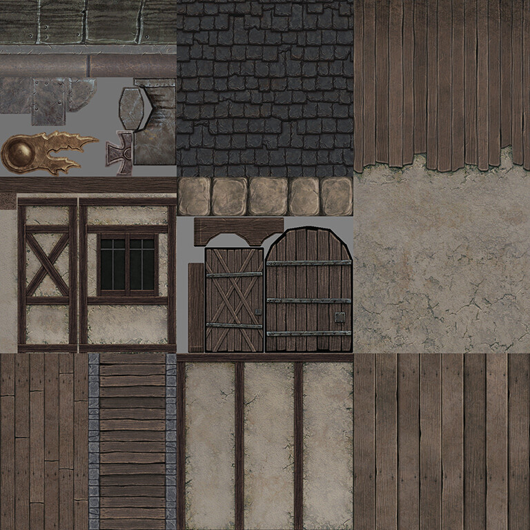 Empire Watermill - Various Textures (512x512s & 256x512)