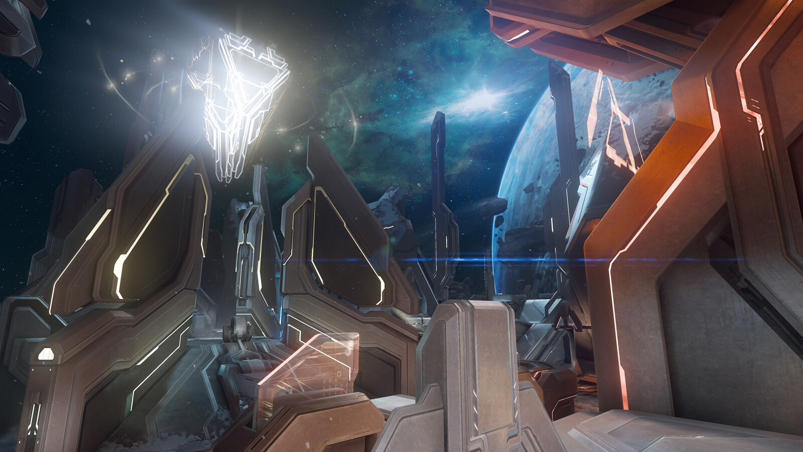 Monolith - Majestic Map Pack ---- Was responsible for the red/blue Forerunner bases and material setup.