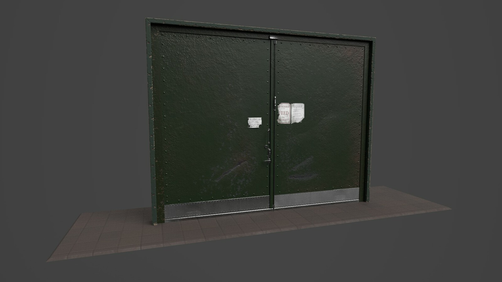 Reinforced laboratory doors