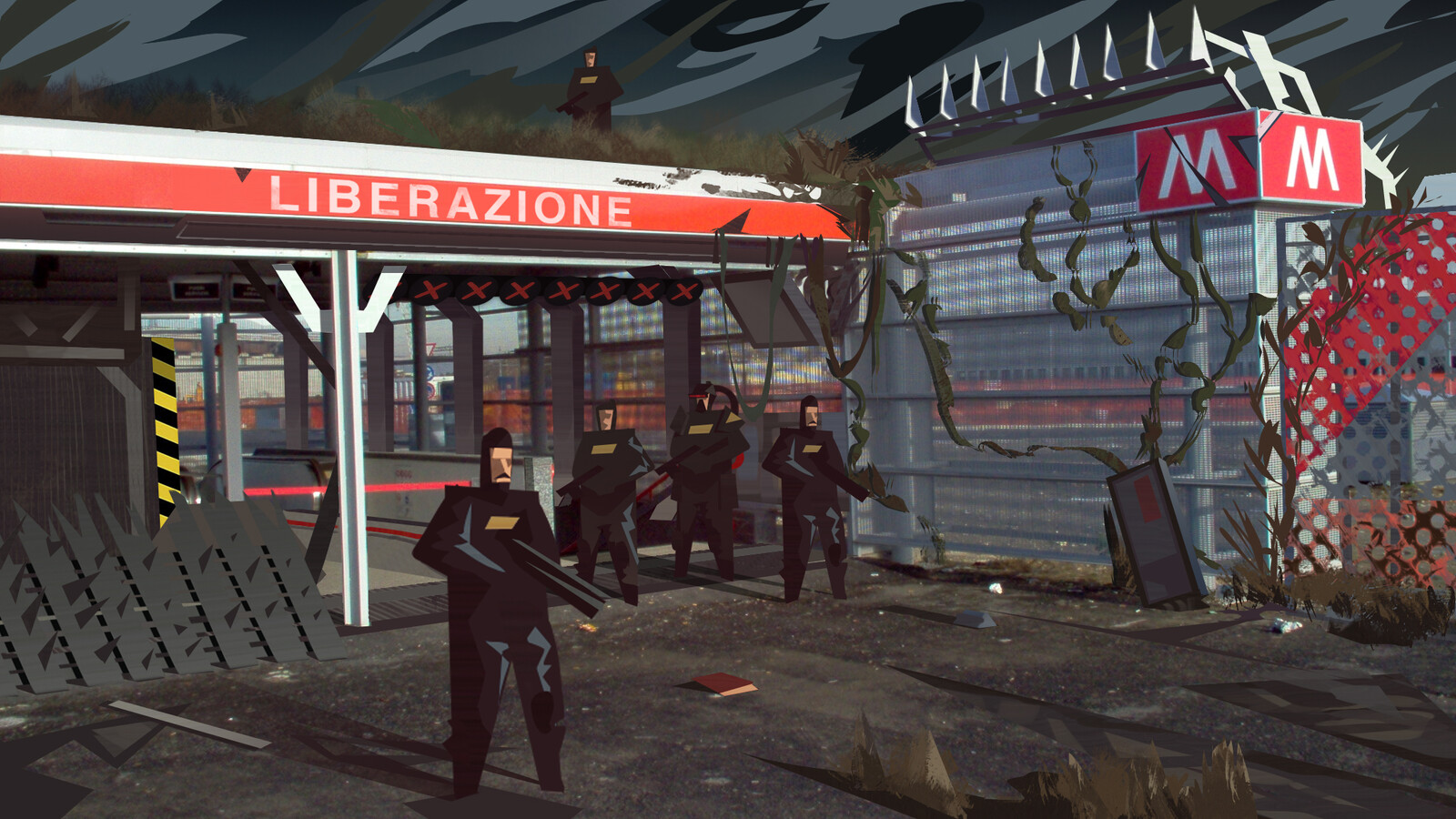 MILANO 2092 - Surveilled Entrance WIP