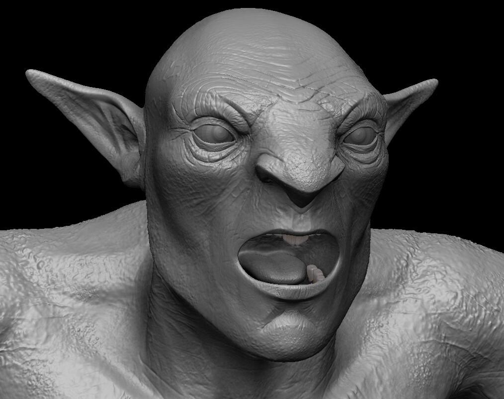 Sculpt Detail Head (Zbrush)