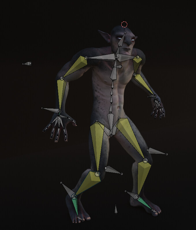 Made a simple posing rig and some shape keys for expression in Blender.