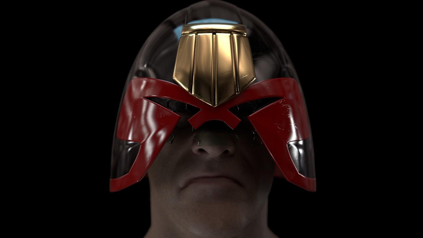 Ian Gibson Dredd Helmet