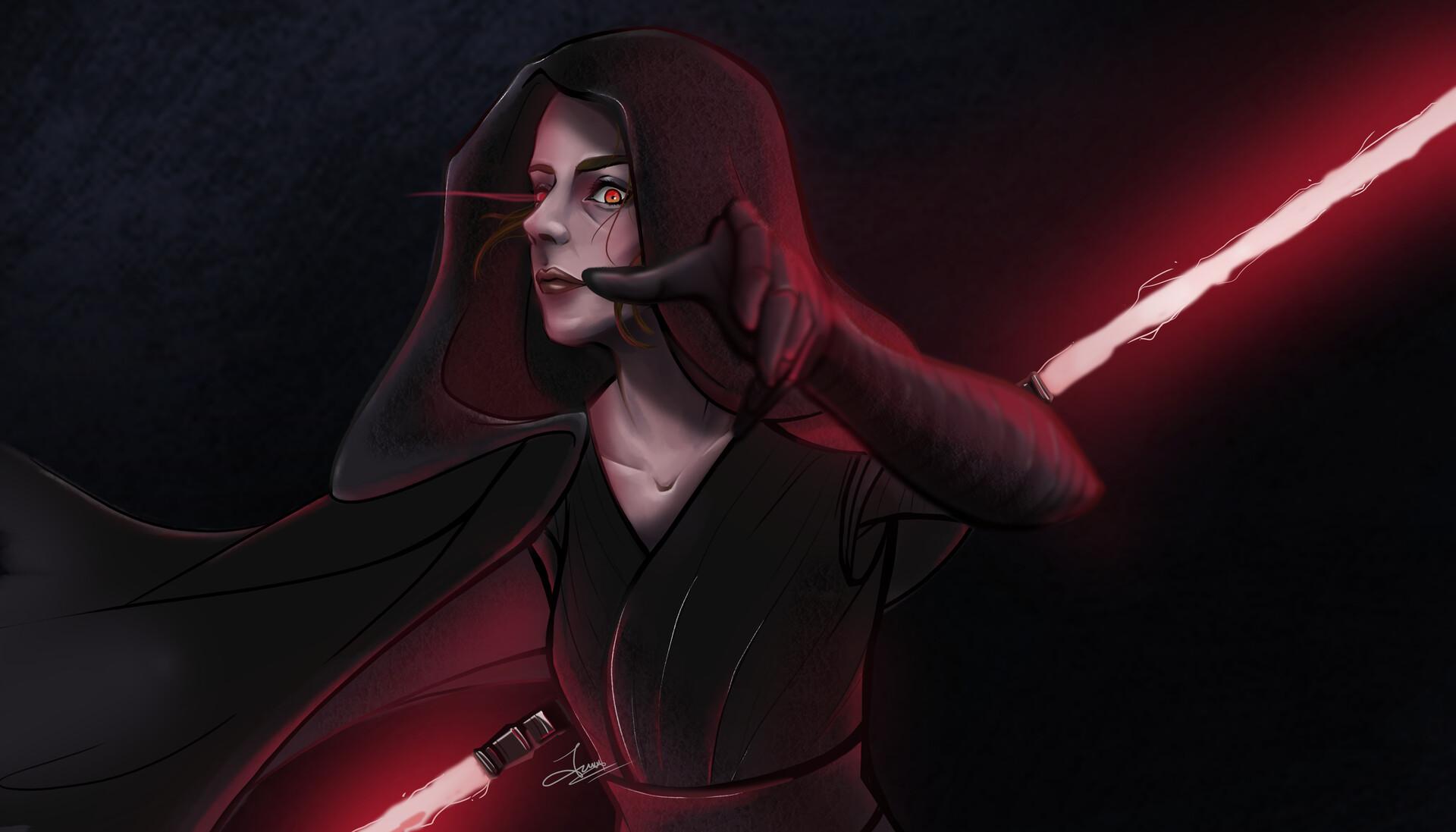Artstation Dark Side Rey Starwars Audisa Wina S