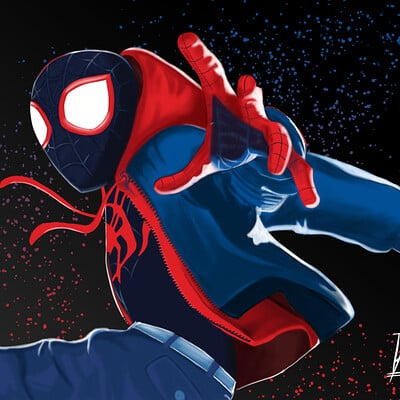 Aaron swafford spiderman into the spider verse