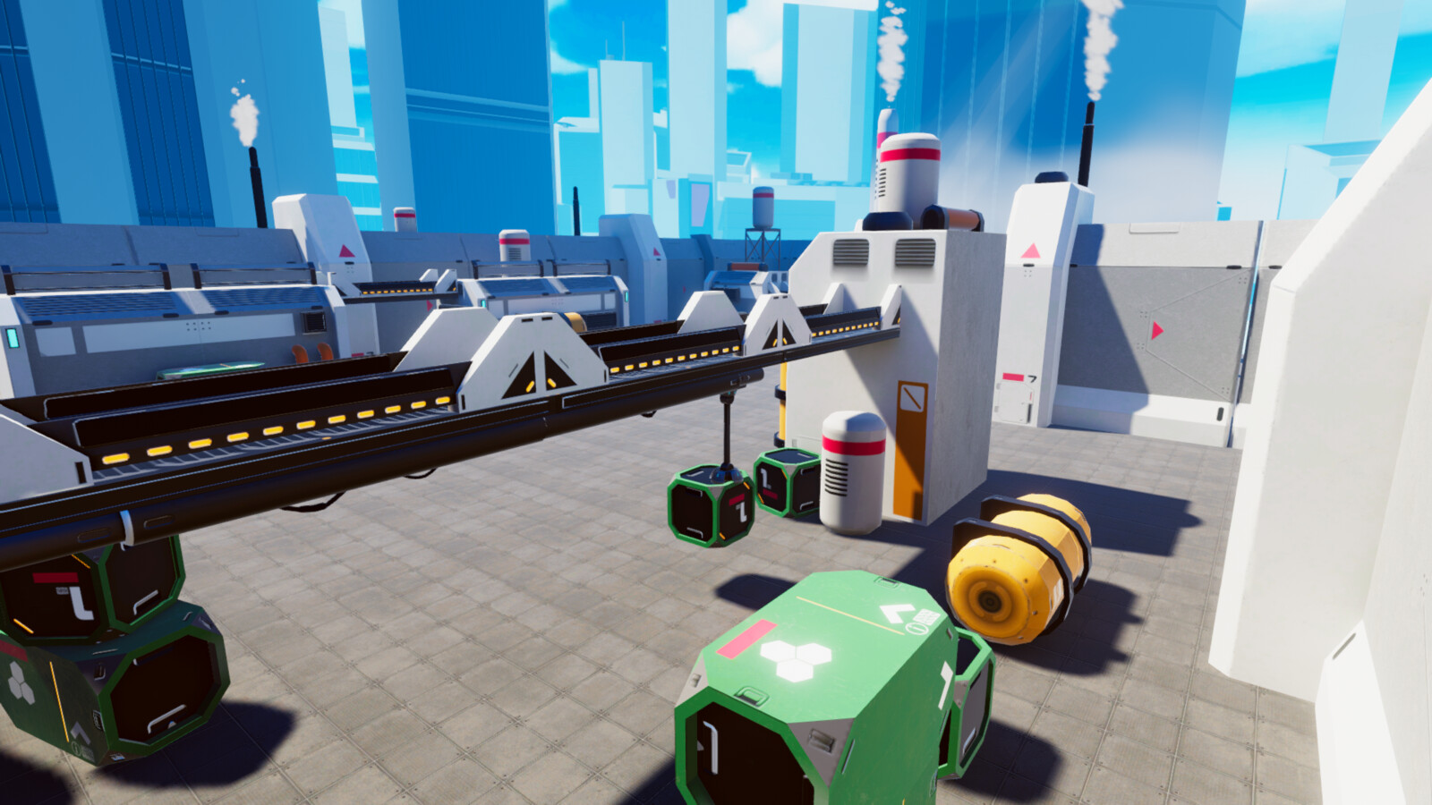 VR/Mobile stylized industrial complex 4