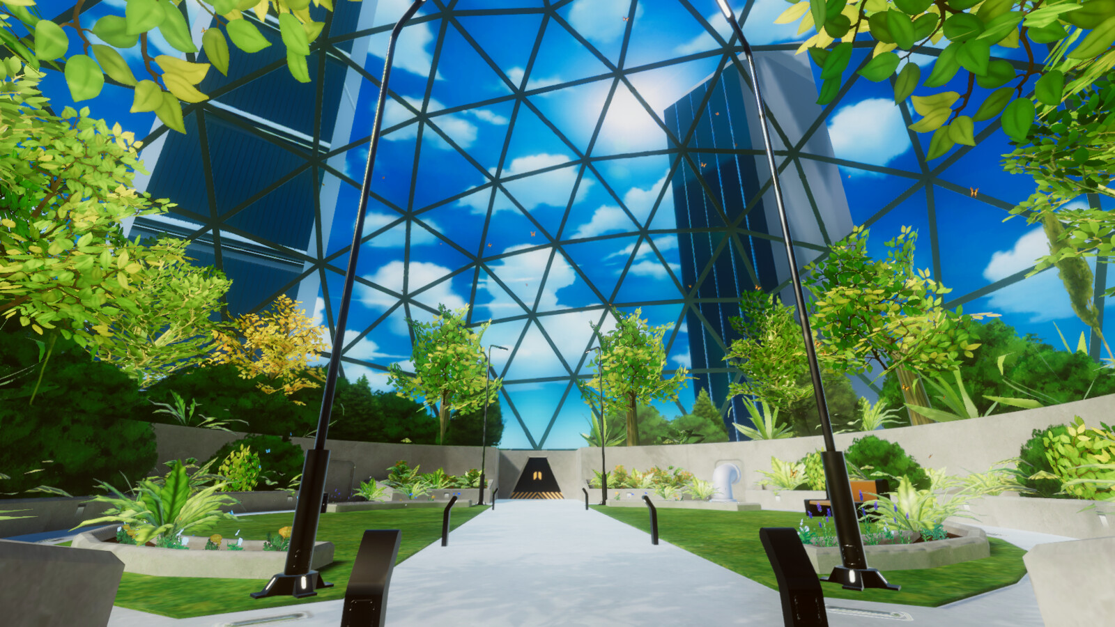 VR mobile stylized enviro dome park 1