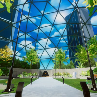 Adam idris vr mobile stylized enviro dome park 2