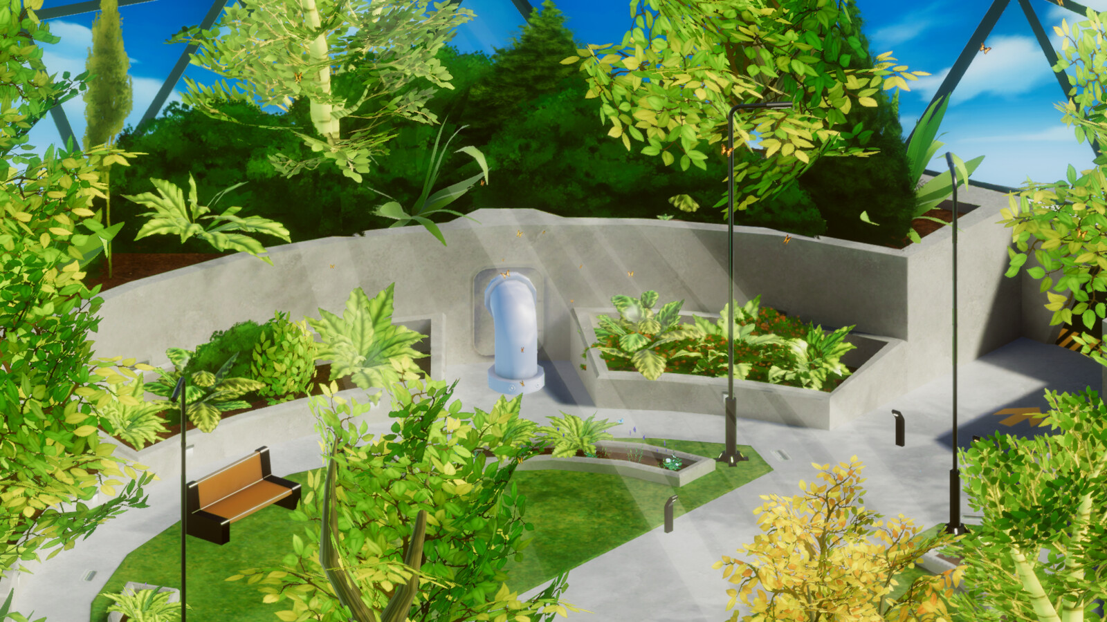 VR mobile stylized enviro dome park 3