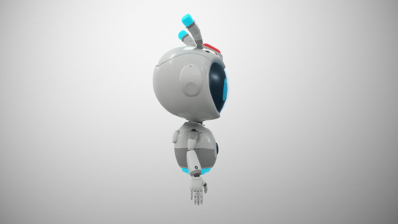 VR Stylized sci fi robot guide, Mia profile