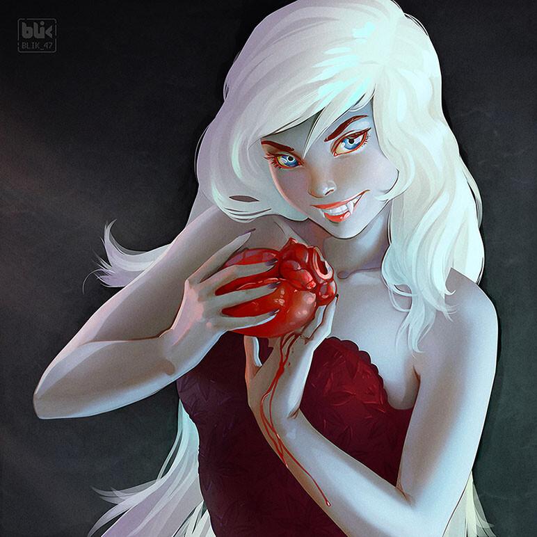 The vampire stole my heart. My digital atr
