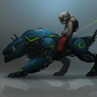 J c park robot beast concept