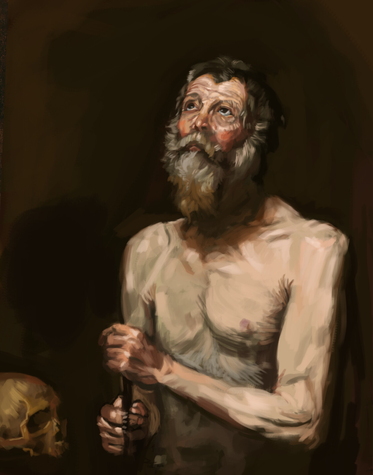 Master Study: Jusepe de Ribera's Saint Onuphrius