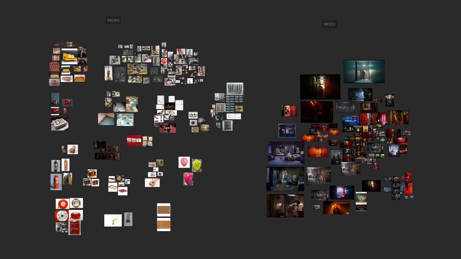 Reference Images collected both for props and mood