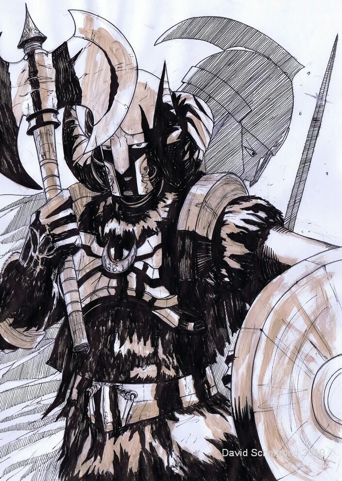 David schmelling warrior sketch small
