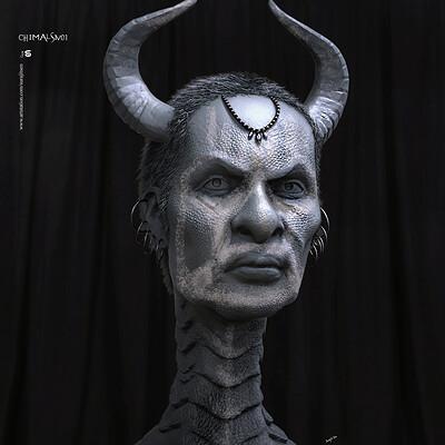 Surajit sen chimalsiv01 digital sculpture surajitsen oct2019