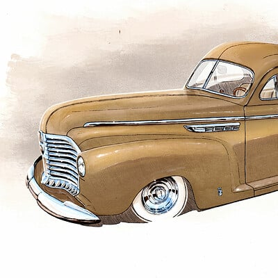 Alexis taccoen cartoon custom buick sedanette 41