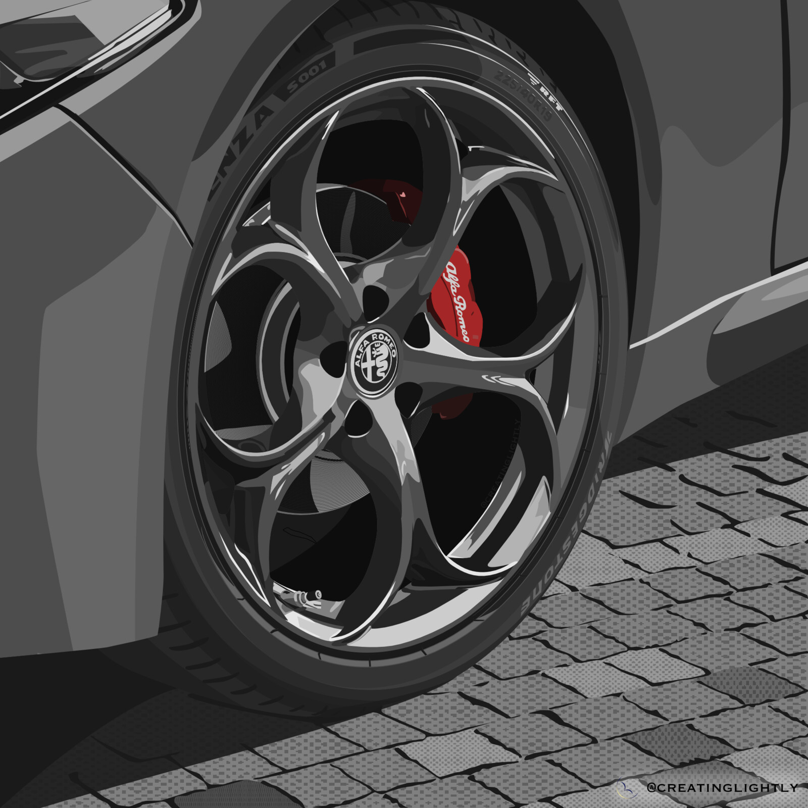 Alfa Romeo Giulia QV Wheel