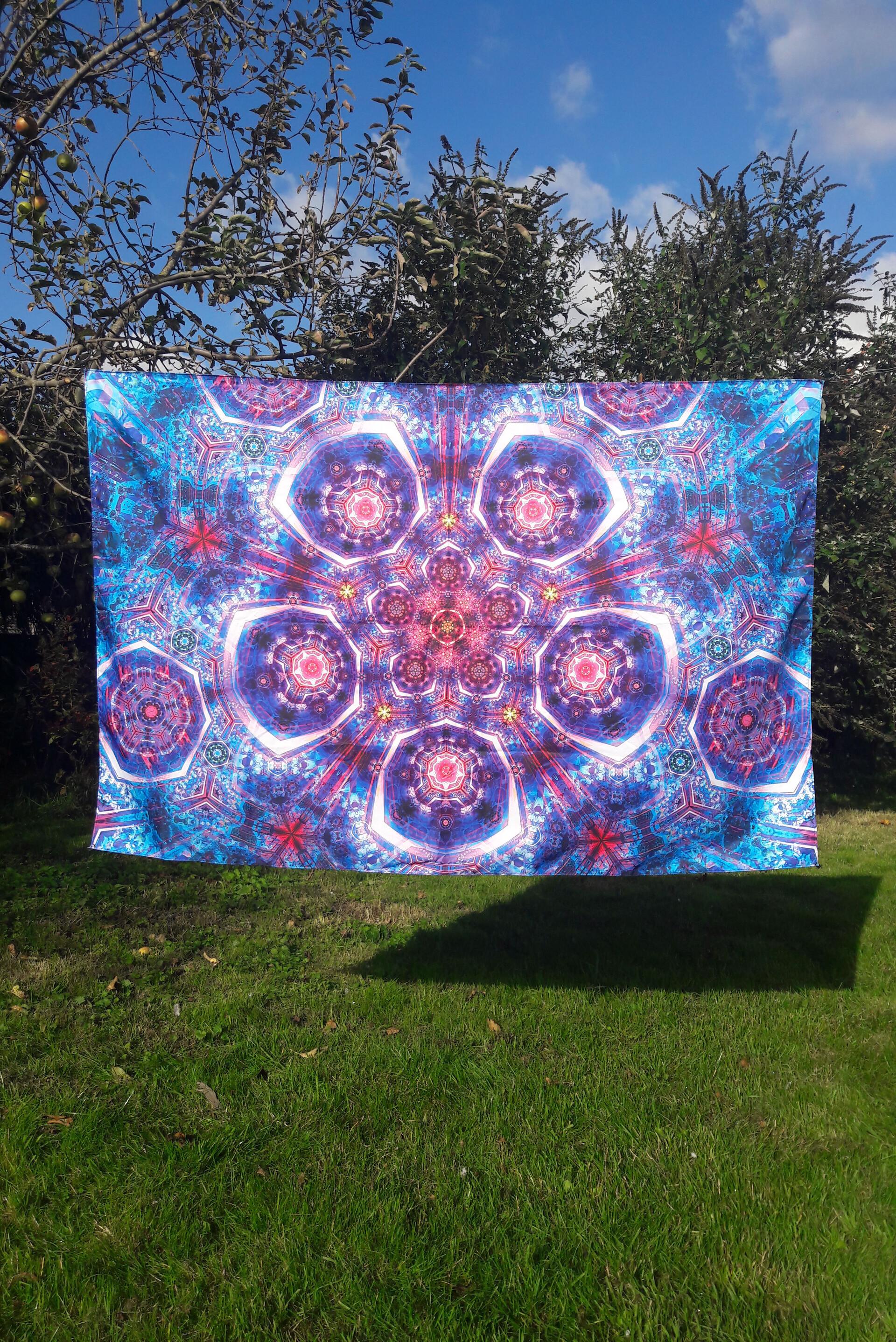 Natural warp oath of the jewel box tapestry medium