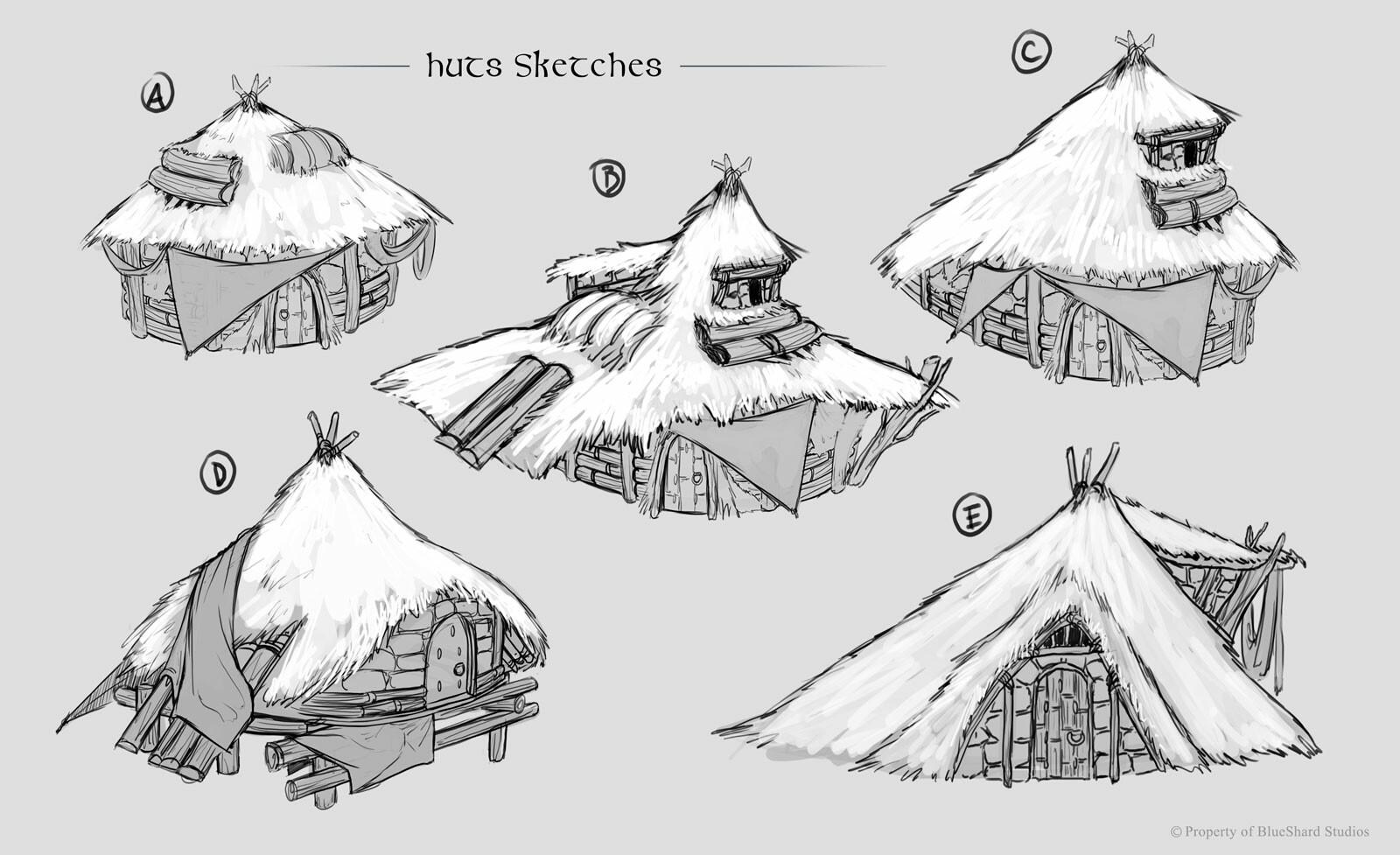 Filipe pinto huts sketches portfolio