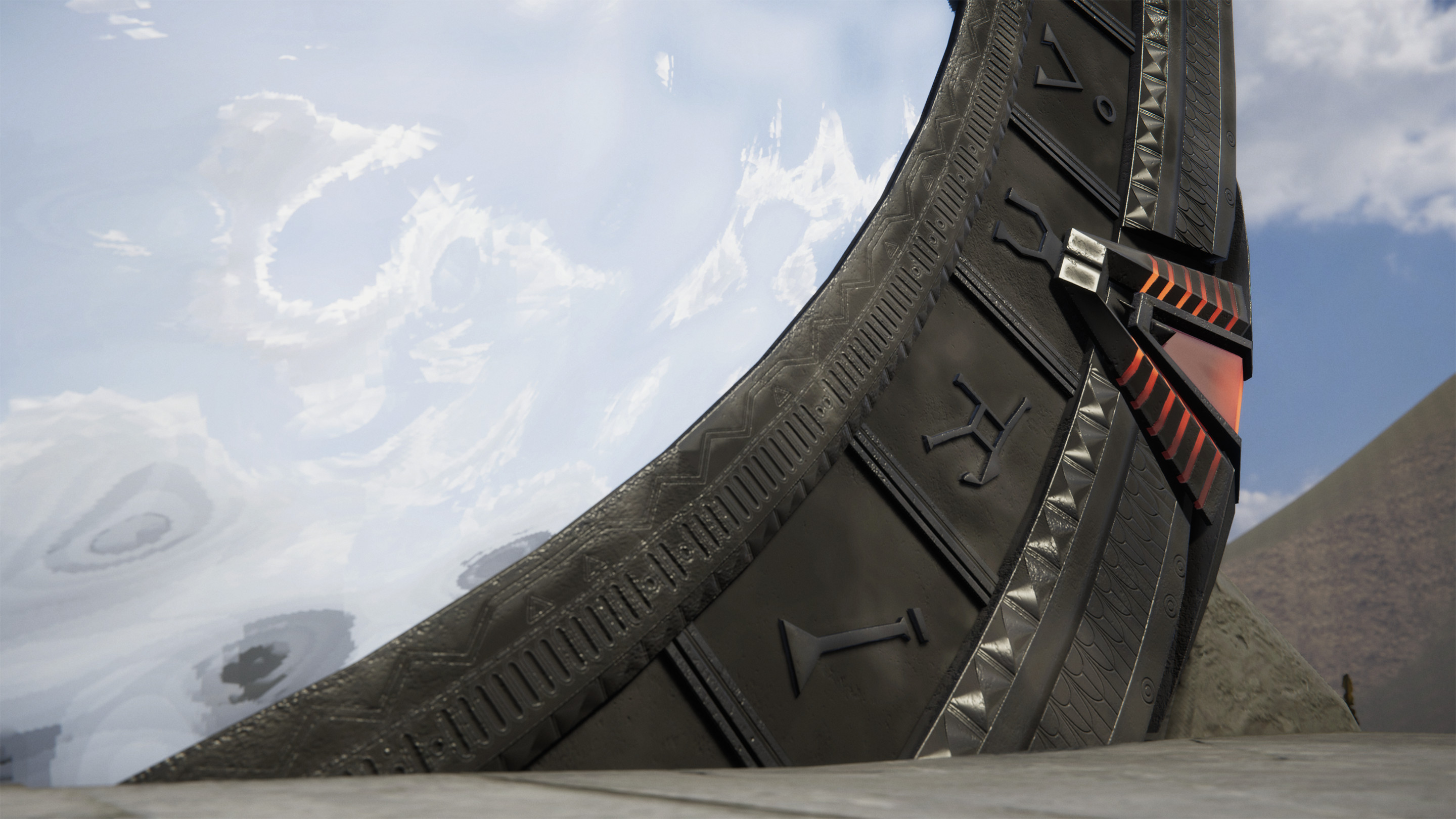 My Stargate model has been designed detail by detail to accurately reflect the design from the Stargate SG-1 models