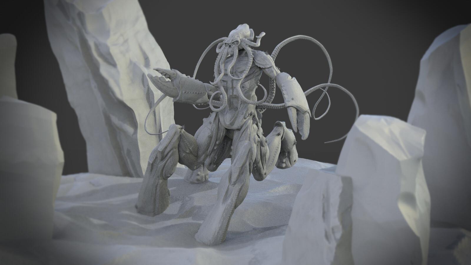 fito barraza art , Cthulhu,Kraken,Centaur
