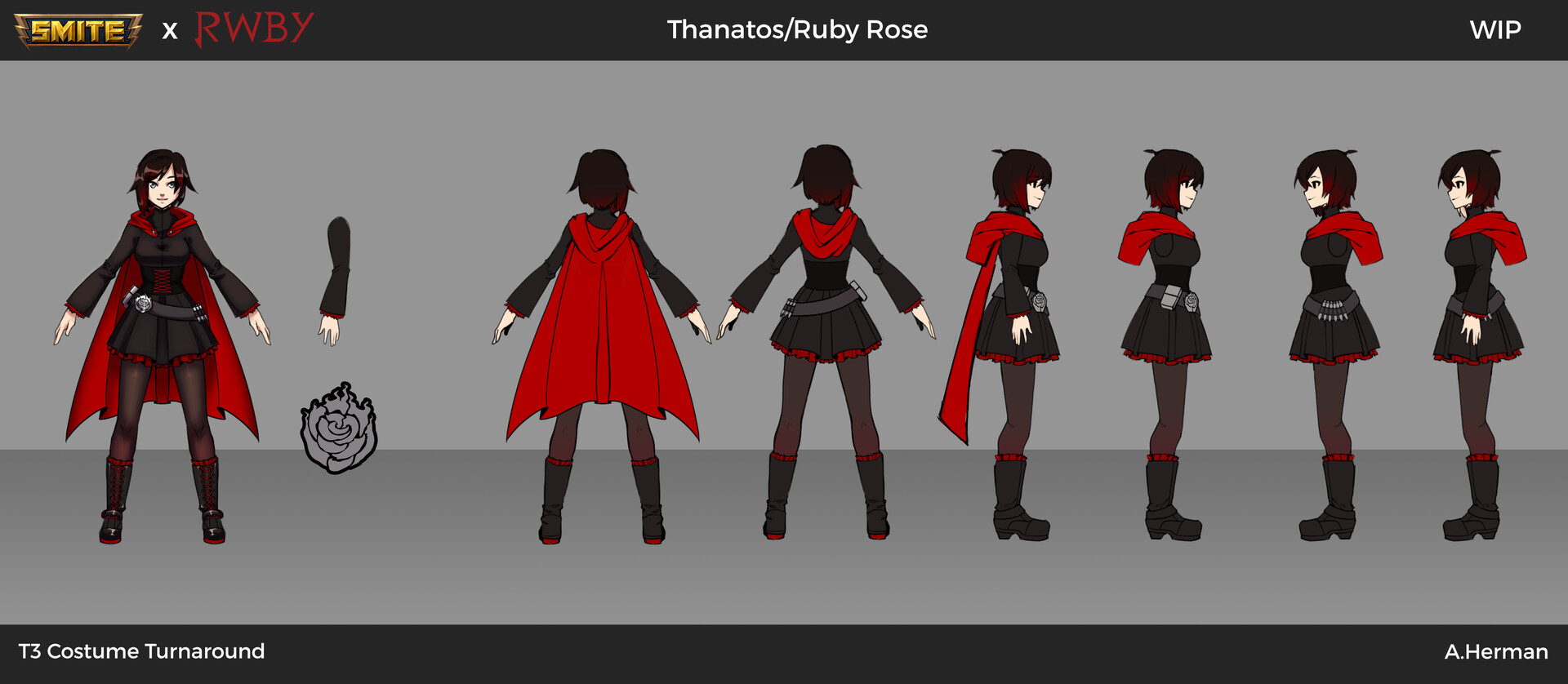 Ruby Season 1 Skin Orthographic